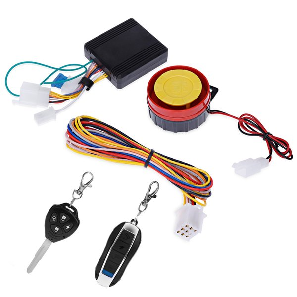 Universal One-way Motorcycle Anti-theft Security Alarm System 12V Double Flash Motorbike Theft Protection Remote Keys Control