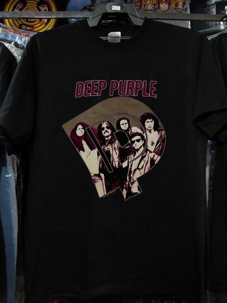 Vintage Deep Purple Tshirt Wholesale 1985 Perfect Stranger Tour Band Concert Nueva camiseta Casual O-cuello de la camiseta de impresión Hombres Hot Anime