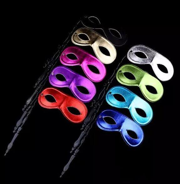 New men and women's masquerade ball masks on sticks Party favor Dress up 10 colors available