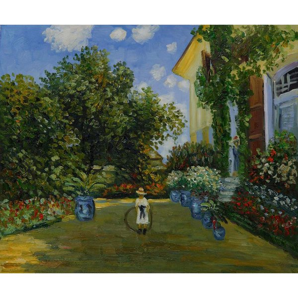 Claude Monet paintings of La Casa Della Artista handmade canvas art for bedroom High quality