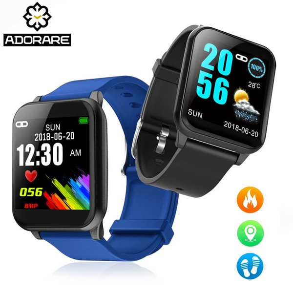 ADORARE Smart Bracelet Heart rate Fitness Tracker For Men Women Color Screen Display For Android IOS electronic wrist watches