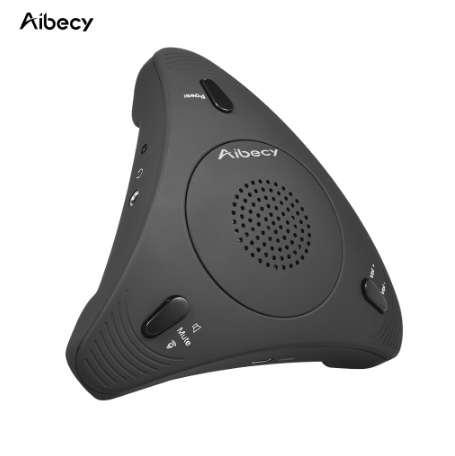 Aibecy Desktop Computer Conference Omnidirectional Condenser Microphone Mic Speaker Speakerphone 360 Audio Pickup Plug &amp