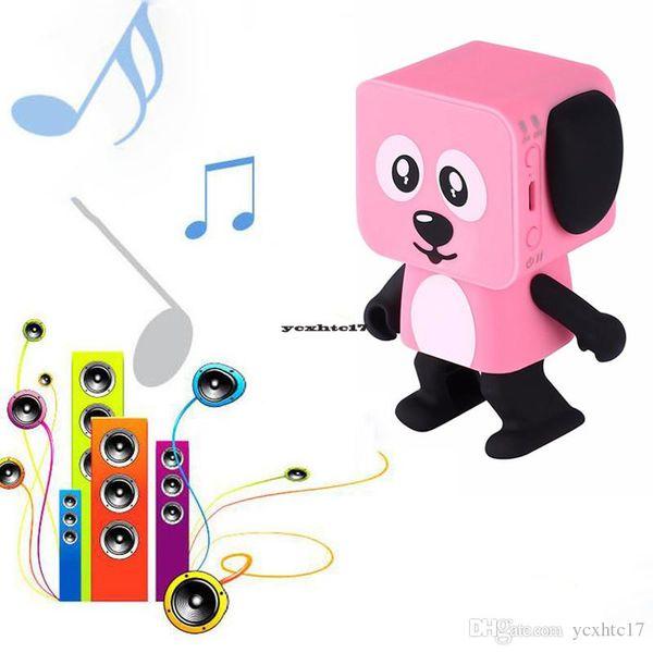 New Small Square Dancing Robot Dog Wireless Bluetooth Stereo Loudspeaker Box Sound Bass Music Speaker