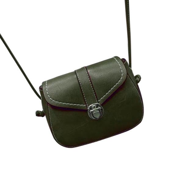 Baellerry Fashion Lady Hasp Small Flap Hangbags Chain Messenger Borsa a spalla con cerniera Borsa a tracolla casual in pelle da donna