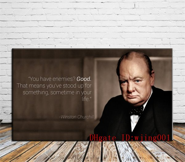 Winston Churchill-3, Canvas Pieces Home Decor HD Impreso Pintura de Arte Moderno en Lienzo (Sin Enmarcar / Enmarcado)