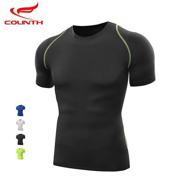 Men Quick Dry Tees Compression Base Layer Tight Top Shirt Under Skin Short Sleeve Sport Gear Gym Run Train Sports T-shirt