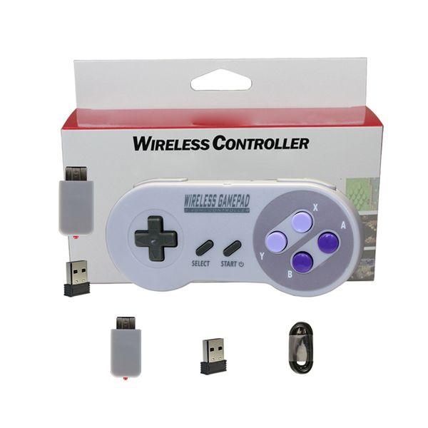 Gamepad wireless 2.4GHZ Joypad Joystick Controller per NES (SNES) Accessori per console console Super Nintendo Classic MINI