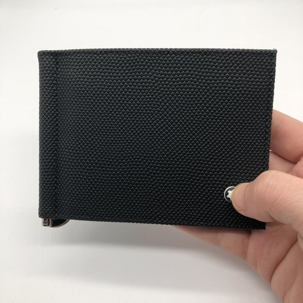 Luxury fashion men's casual leather wallet M B black short credit card holder wallet MB pocket MT high quality ID card holder 2018
