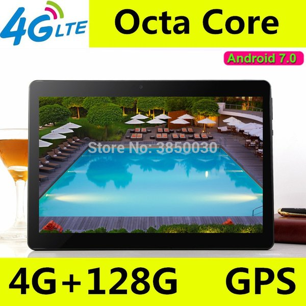 Tablet PC da 10 pollici Octa Core 3G 4G LTE Tablet Android 7.0 RAM 4 GB ROM 128 GB Dual SIM Bluetooth GPS Tablet da 10.1 pollici tablet