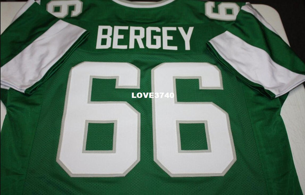 top popular Men Bill Bergey #66 Sewn Stitched RETRO JERSEY Full embroidery Jersey Size S-4XL or custom any name or number jersey 2019
