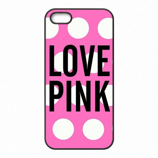 Love Pink Pink Letter Phone cubiertas cajas de plástico duro para Samsung Galaxy A3 A5 A7 A8 2015 2016 2017