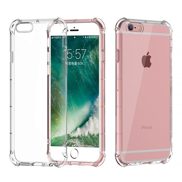 New Arrival Shockproof 360 TPU Silicone Protection Transparent Clear Case Cover For Iphone Plus 7 7 Plus U42 HOT SELL