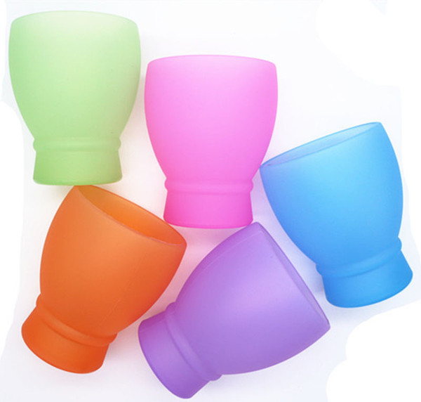 unbreakable silicone sports water cups portable foldable 280ml picnic mugs bar party creative cocktail wine cups