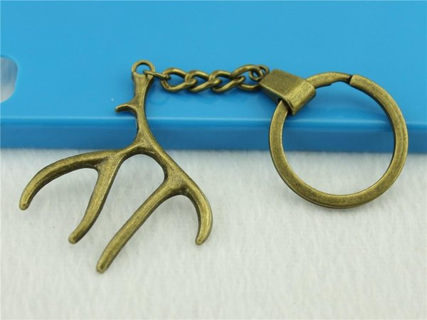 6 pieces key chain women key rings fashion keychains for men antlers 51x40mm