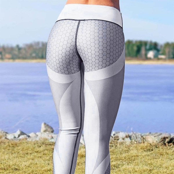 2fdcb412a9809 Yoga Pants Womens 3D Print Hight Wast Yoga Skinny Workout Gym Leggings  Sports Training Cropped Pants Ropa Deportiva Mujer