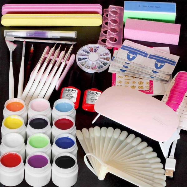 Nail Art Kit 6w Led Lamp For Nails Top Coat Base Gel Nail Gel Polish
