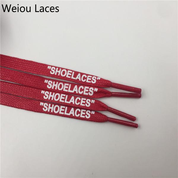 Großhandel Weiou Neu Kommen Mode Schwarz Weiß Gewachste Baumwolle Flache Schnürsenkel Wasserdicht Für Leder Sneakers Druck SCHUHE Von Hzh930, $1.26