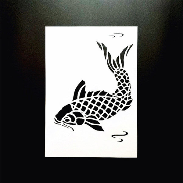 DIY Craft Fish Painting Template Reusable Flexible Layering Craft Stencils For Wall Painting Scrapbooking Stamper Album Decor