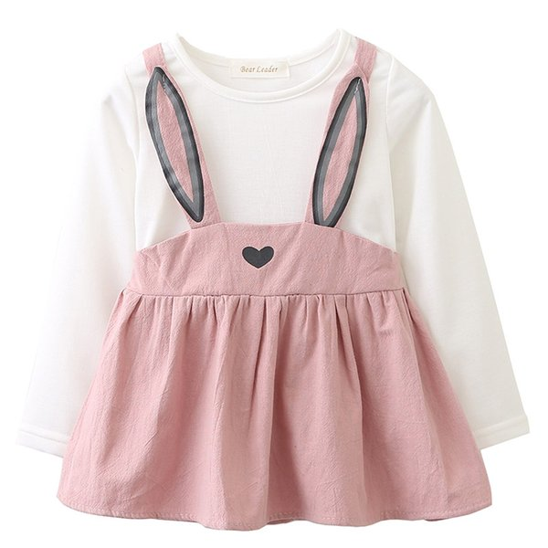 Baby Dresses Rabbit Ears Printing 2018 New Autumn Spring Baby Girls Clothes Princess Newborn Dress Suit For 6M-24M