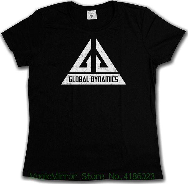 Vintage Global Dynamics Gd Logotipo T-shirt-Jack Carter Tv Serie Eureka T-shirt de Alta Qualidade Casual Printing Tee