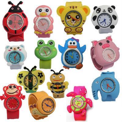 best selling cute Kids Watches For Girl Boy Cartoon brid slap kids baby girl boy wrist watch silicone jelly children sports watch