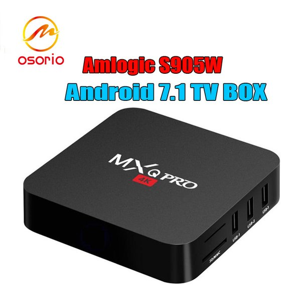 Smart TV Media Player MXQ Pro S905W TV BOX Android 7.1 TV Boxes 4K Genuine Amlogic MXQ PRO 4K 1GB/8GB WiFi Lan Internet Google play box