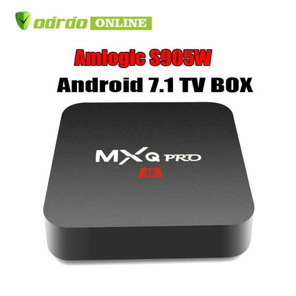 Hot MX2 MXQ PRO Amlogic S905W Quad Core Android 7.1 TV BOX With Customized 4K Media Player Factory OEM ODM