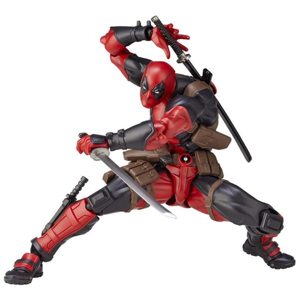 16cm Boxed X-Men Deadpool Series No.001 BJD Figma Avengers SuperHeros X man PVC Action Figure Collectible Model Toys Dolls