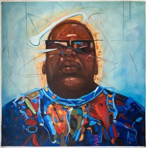 Biggie Smalls Notorious BIG Handpainted & HD Print Modern Abstract Figure Portrait Art Oil Painting On High Quality Canvas Multi Size p18