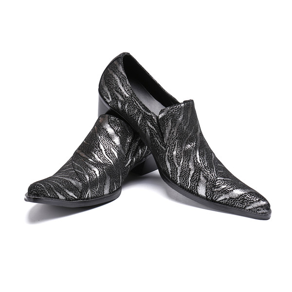 Новый итальянский натуральная кожа Мужская обувь свадебный банкет вечернее платье обувь большой размер мужской бизнес обувь скольжения на