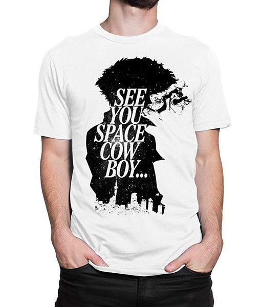Ковбой Бибоп Спайк Spiegel футболка , увидеть вас пространство Ковбой футболка топы лето прохладный смешно футболка