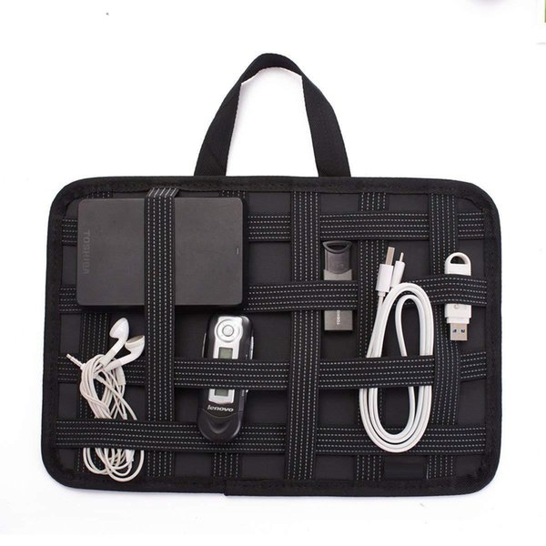 045d6f145889 LZVTO Elastic Organizer Board Electronic Accessories Travel Digital  Organizer Bag For Pen IPad IPhone Charger Earphones Case Bag Overnight Bags  For ...
