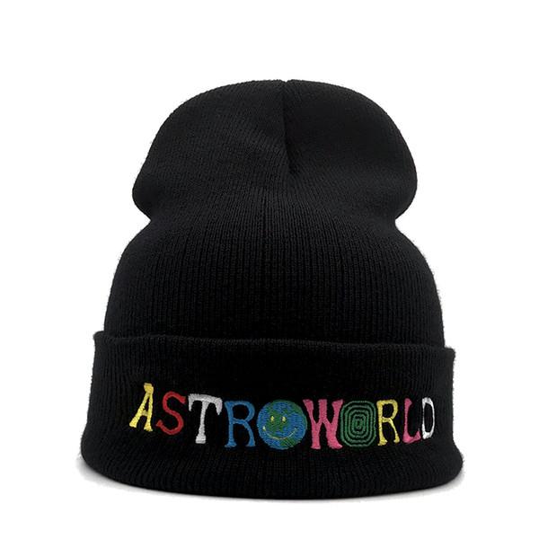 New Travi $ Scott cappello freddo lavorato a maglia ASTROWORLD ricamo cappello Beanie Astroworld sci caldo inverno unisex Travis Scott Skullies Bean