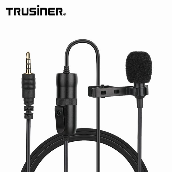 Professional Omnidirectional Condenser Lavalier Collar Lapel Clip Mic Microphone For Mobile Phone DSLR Camera Interview Recording Vlog