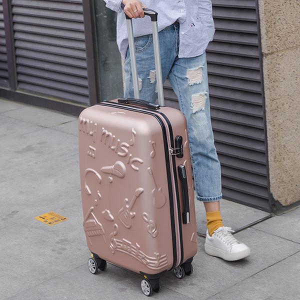 Reisetasche universal räder trolley gepäck weiblich kleines frisches personalisiertes gepäck 20 männlich 24, musiktasche reisetaschen