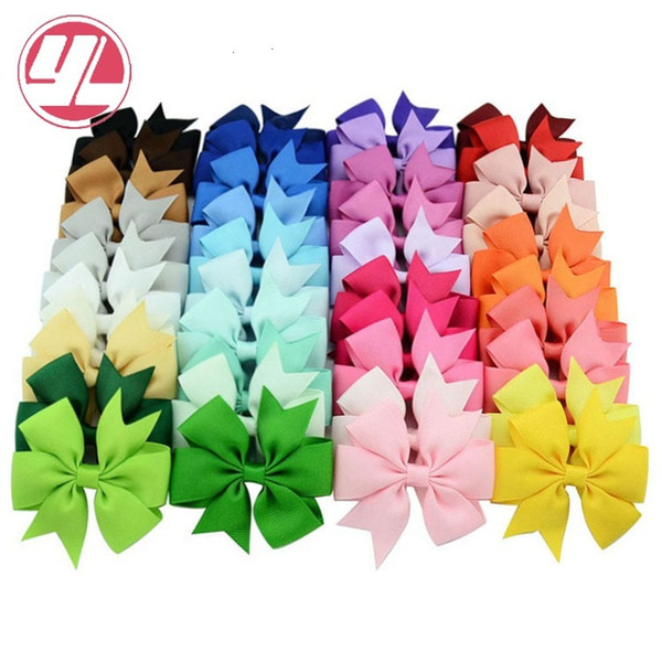 Hair Bows Hair Pin for Kids Girls Children Hair Accessories Baby Hairbows Girl with Clips Flower Clip Hot 40 Colors