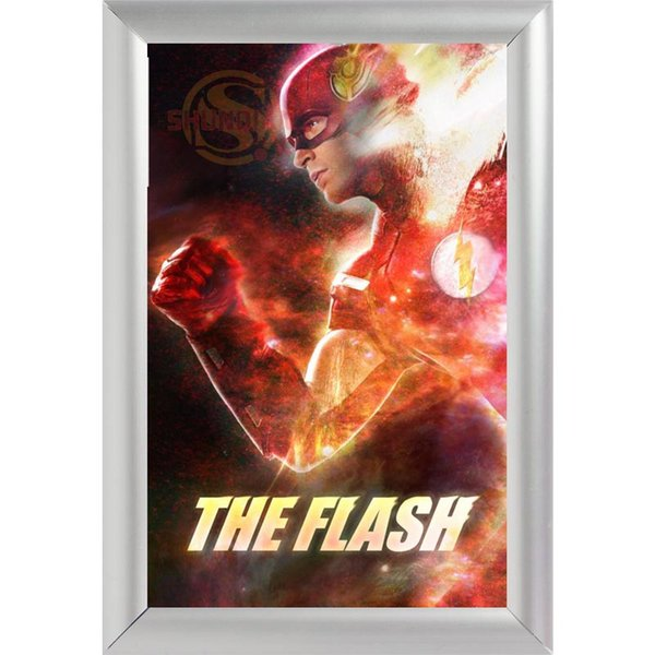 Silver Color Aluminum Alloy poster Frame Home Decor Custom Canvas Frame The Flash Canvas Poster F170112#52