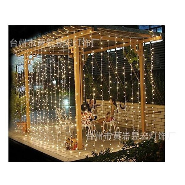 Decorations Christmas Sale 3m X 3m 304 Led Curtain String Lights Eu 220v Xmas Garland for Party Wedding New Year Holiday Decor ,W