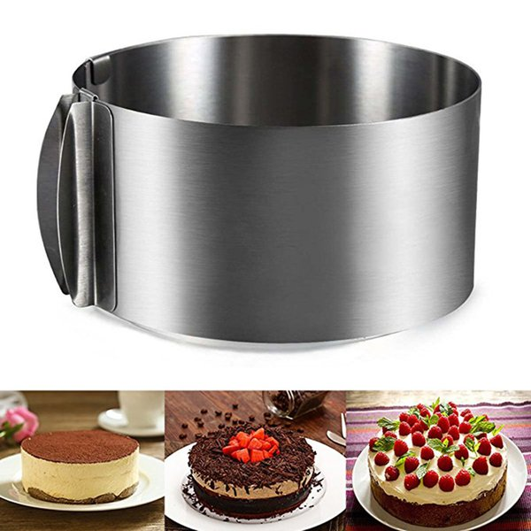 16-30cm Retractable Cake Mold Stainless Steel Cake Ring Molds Round Shape Cupcake Stand Kitchen Baking Decorating Cake Tools