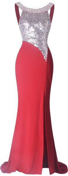 Angel-fashions Damen Halbe Hülse Durchschauen Voile Pailletten Abendkleid 393