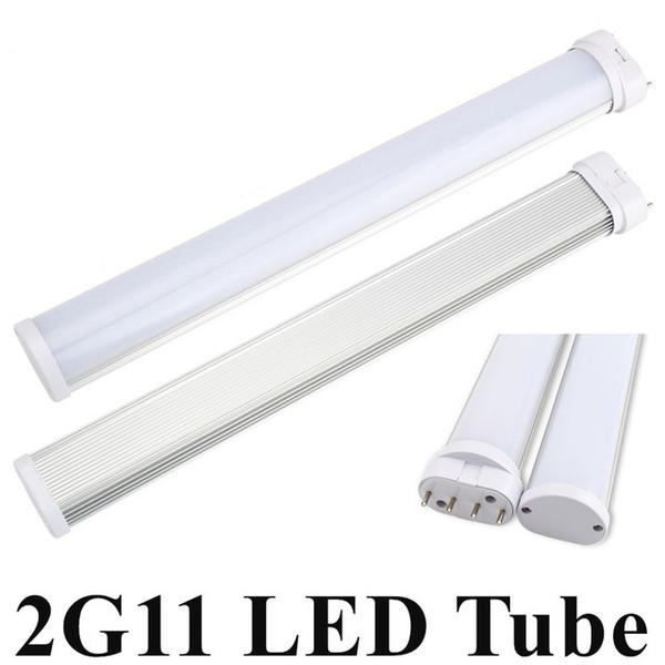 Neues bestes 2G11 LED Licht 2G11 Schlauch LED 12W / 230mm 15W / 325mm 18W / 415mm 25W / 540mm SMD2835 bereifte Abdeckung AC85--265V wärmen sich / kühles Weiß freies Verschiffen