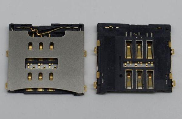 Conector de la ranura de la bandeja del lector de tarjetas SIM para iPhone 7 7 más adaptadores de tarjeta sim de teléfono celular.