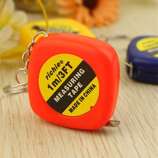 New 1 meters small tape measure soft tape portable mini key buckle measuring tape, small gift pendant portable tape