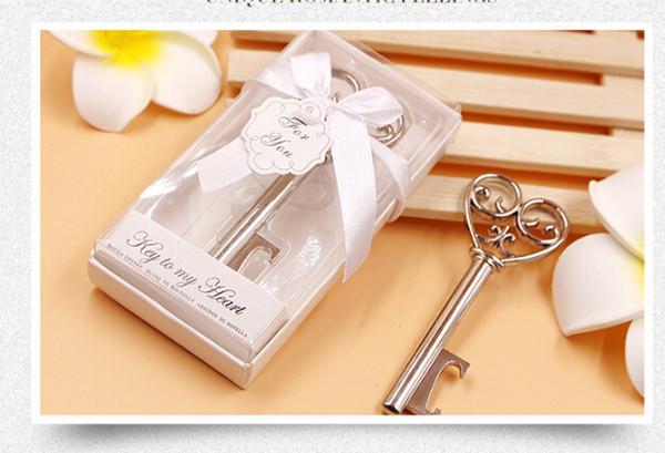 1 stück Schlüssel Design Flaschenöffner Korkenzieher Hochzeitsgeschenk Baby Shower Favor Kreative Nette Nizza Flaschenöffner Party Favor Supplies