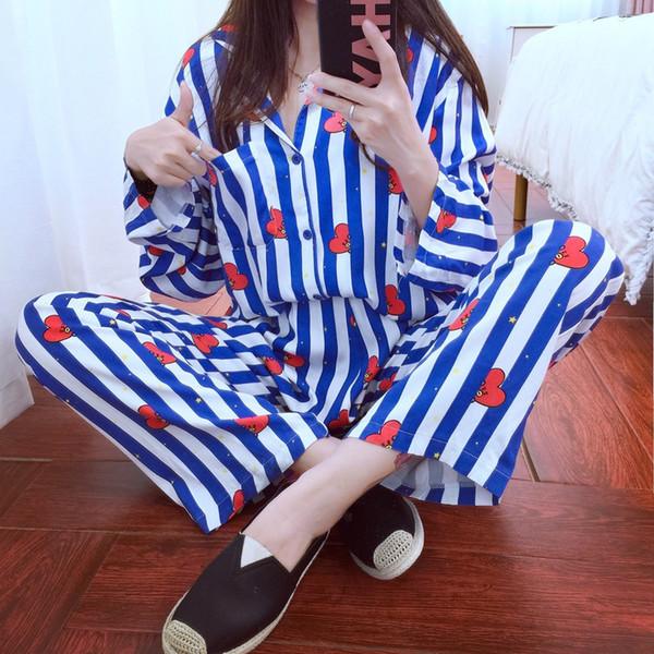 купить оптом женщины осень Wimnter пижамы наборы Kpop Bangtan