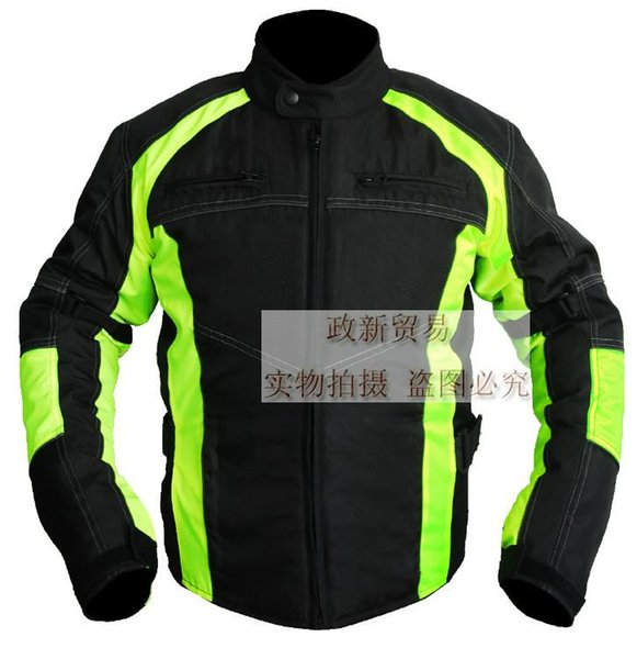 Vente en gros-Neon vert professionnel imperméable chasse veste veste service la démontabilité flanchard - coton grande thermique imperméable