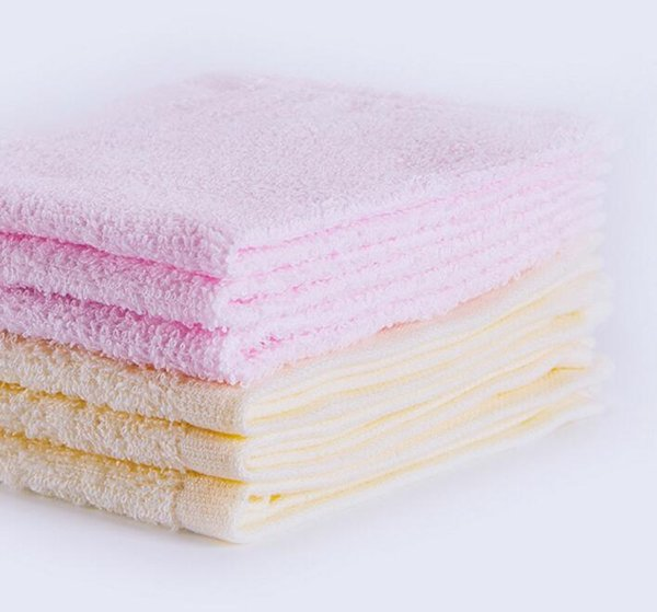 2018 new soft absorbent small handkerchief pure cotton plain color children wash face and hands small square towel