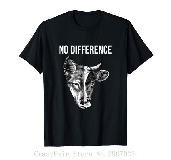 No Difference Dog Cow T-shirt Men Tee Shirt Tops Short Sleeve Cotton Fitness T-shirts