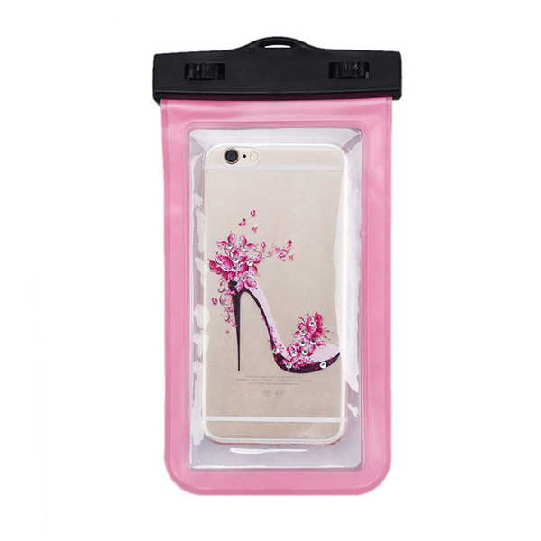 Outdoor For Iphone 7 waterproof bag Waterproof Case Bag PVC Protective Universal Phone Case bag swimming hot spring cellphone pouch