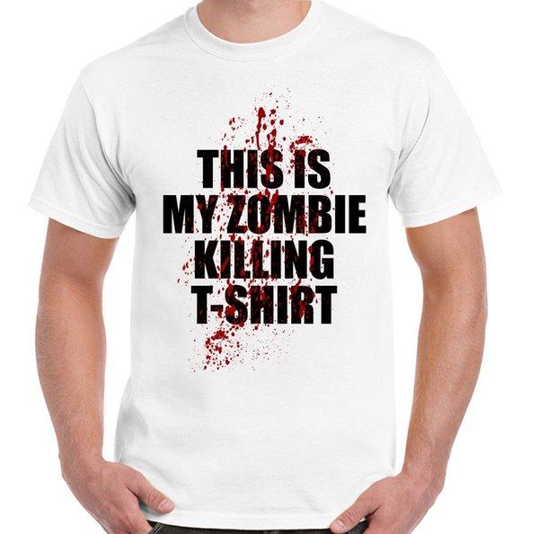 Questo è il mio zombie che uccide T-Shirt Divertente da uomo Halloween Walking Dead Tops Maschile maglietta da uomo T-shirt per uomo O-Collo Top maschile